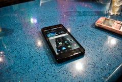 Mobiel meer dan een barbar stock afbeeldingen