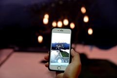 Mobiel met het leven royalty-vrije stock foto's