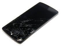 Mobiel met het verpletterde scherm Stock Afbeelding