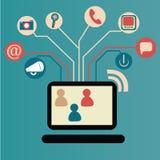 Mobiel netwerk Royalty-vrije Illustratie