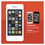 Mobiel pictogram Stock Afbeeldingen
