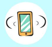 Mobiel pictogram voor app en Web Vectorpop-artteken Stock Foto's