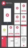 Mobiel Praatje UI, UX of GUI Screens vector illustratie