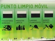 Mobiel recyclingspunt Royalty-vrije Stock Afbeeldingen