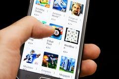 Mobiel spel Stock Afbeelding