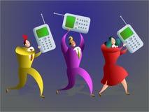 Mobiel team Stock Afbeelding