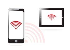 Mobiel telefoon en WIFI-signaal Royalty-vrije Stock Foto's