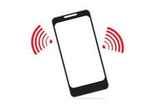 Mobiel telefoon en WIFI-signaal voor communicatie concept binnen Royalty-vrije Stock Foto