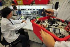 Mobiel telefoon recycling Stock Foto