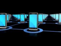 Mobiel telefoonnetwerk Stock Afbeelding