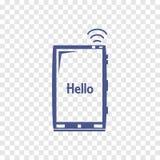 Mobiel telefoonpictogram Stock Foto
