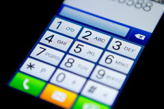 Mobiel telefoontoetsenbord Stock Foto
