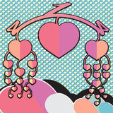 Mobiel Valentine Stock Afbeeldingen