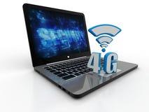 Mobiel van de de bedrijfs gegevensverbinding van de telecommunicatie cellulair hoge snelheid concept 3d geef terug Royalty-vrije Stock Afbeeldingen