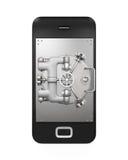 Mobiel veiligheidsconcept Stock Fotografie