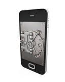 Mobiel veiligheidsconcept Royalty-vrije Stock Afbeeldingen