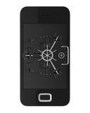 Mobiel veiligheidsconcept stock illustratie
