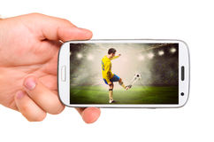 Mobiel voetbal Stock Foto