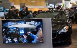 MOBIEL WERELDcongres 2015 - NIEUWE AUTO'Stechnologie Stock Foto's