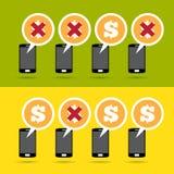 Mobiel Winst en Verlies Stock Afbeeldingen