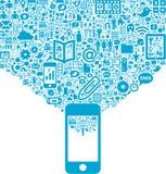 Mobiele activiteit stock illustratie