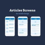 Mobiele App Wireframe Ui Uitrusting Gedetailleerd wireframe voor snelle prototyping Royalty-vrije Stock Foto