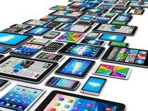 Mobiele apparaten stock illustratie