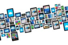 Mobiele apparaten vector illustratie