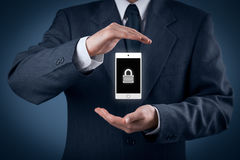 Mobiele apparatenveiligheid Royalty-vrije Stock Foto's