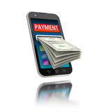 Mobiele betalingen Royalty-vrije Stock Afbeeldingen
