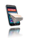 Mobiele betalingen stock illustratie