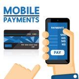 Mobiele betalingen Stock Afbeelding