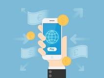 Mobiele betalingen stock afbeeldingen