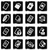 Mobiele of celtelefoon, smartphone, specificaties en functies Stock Fotografie