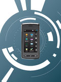 Mobiele communicatiemiddelen Stock Foto's