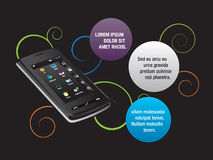 Mobiele communicatiemiddelen vector illustratie
