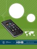 Mobiele communicatiemiddelen stock illustratie