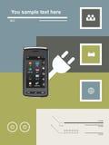 Mobiele communicatiemiddelen Stock Afbeelding