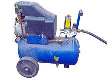 Mobiele compressor royalty-vrije stock afbeelding