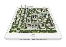 Mobiele 3d navigatietechnologie Royalty-vrije Stock Afbeelding