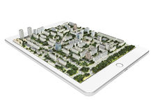 Mobiele 3d navigatietechnologie Royalty-vrije Stock Foto's