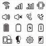 Mobiele de pictogrammenvector van het telefoonprofiel Royalty-vrije Stock Foto's