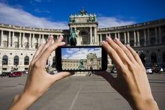 Mobiele foto van de reis Royalty-vrije Stock Afbeelding