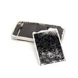 Mobiele gebroken telefoon Stock Afbeelding