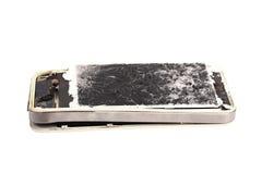 Mobiele gebroken telefoon Royalty-vrije Stock Foto's