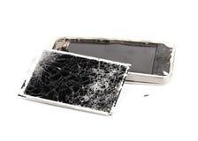 Mobiele gebroken telefoon Stock Foto