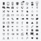 Mobiele geplaatste pictogrammen Illustratie Royalty-vrije Stock Foto