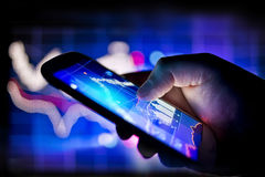 Mobiele Globale Zaken Royalty-vrije Stock Foto's