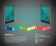 Mobiele grafiek stock illustratie