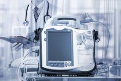 Mobiele Hart Defibrillator eenheid - noodsituatie geavanceerd technische equi royalty-vrije stock fotografie